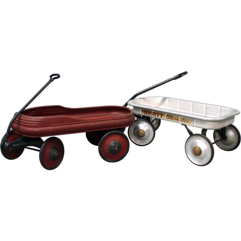 Pair Of Modernist Children S Pull Wagons At 1stdibs