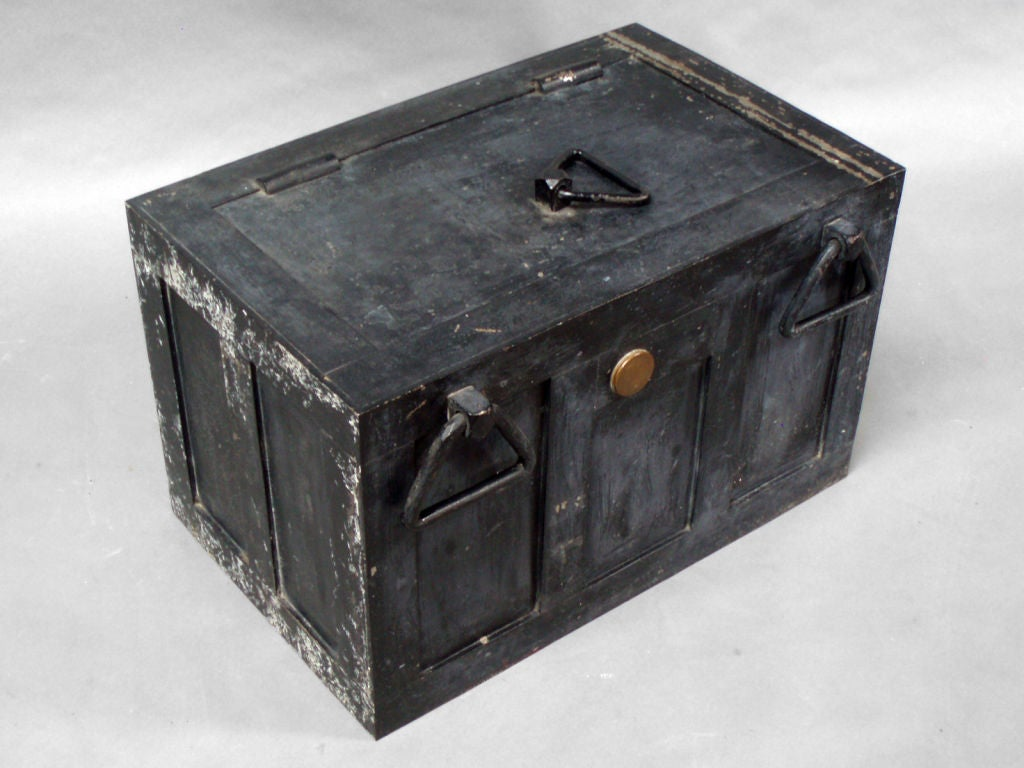 Iron Strong Box Treasure Chest For Sale At 1stdibs