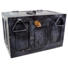 Iron Strong Box Treasure Chest