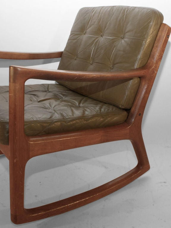 Mid-20th Century Ole Wanscher for France and Daverkosen Rocker For Sale