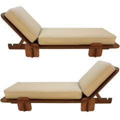 Pair of Mid Century Plywood lounges