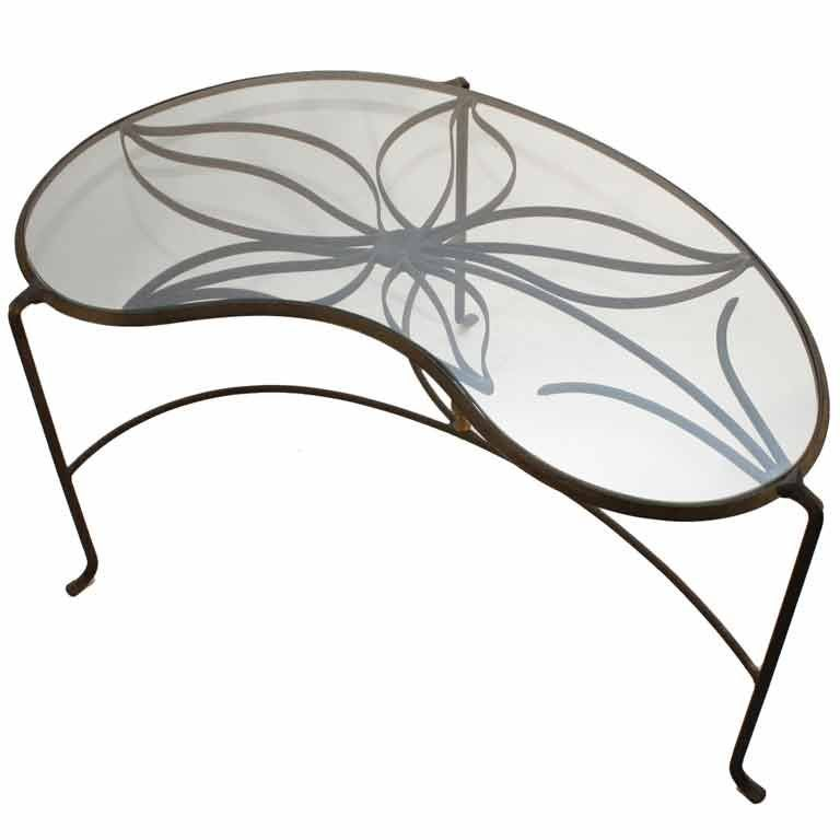 Black Wrought Iron Glass Top Coffee Table At 1stdibs