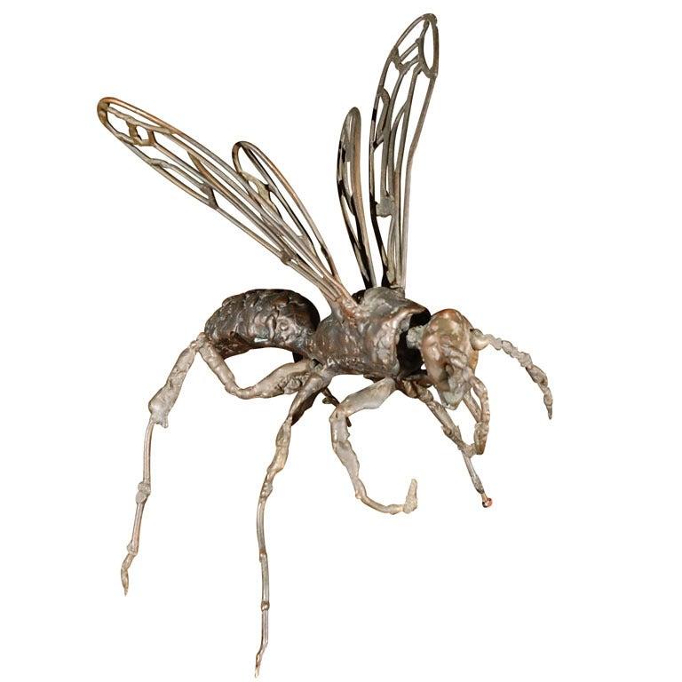 1960s Bronze Wasp Sculpture.