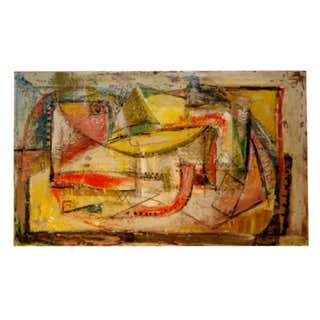 1950s Oil on Canvas Nude Painting by Mark Mohler For Sale