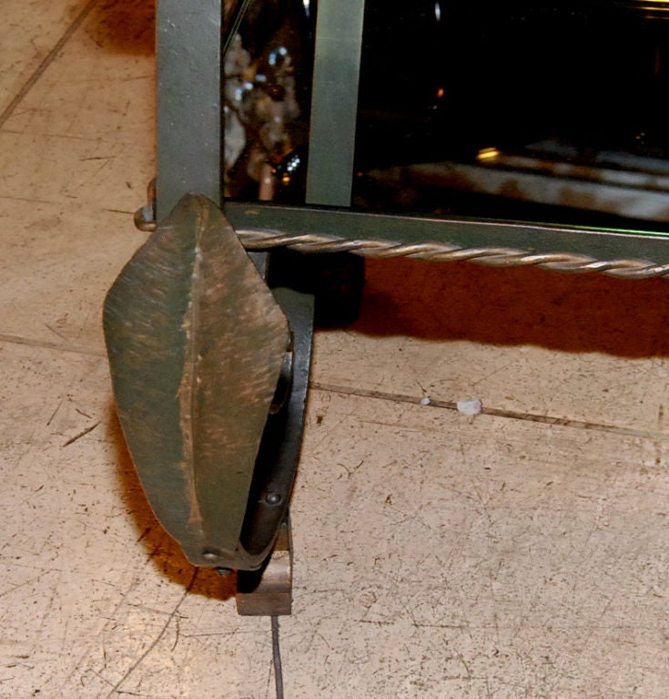 1940's French Wrought Iron Side Table. 5