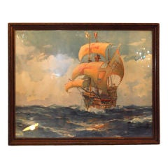 Watercolor Ship by H. Hormick