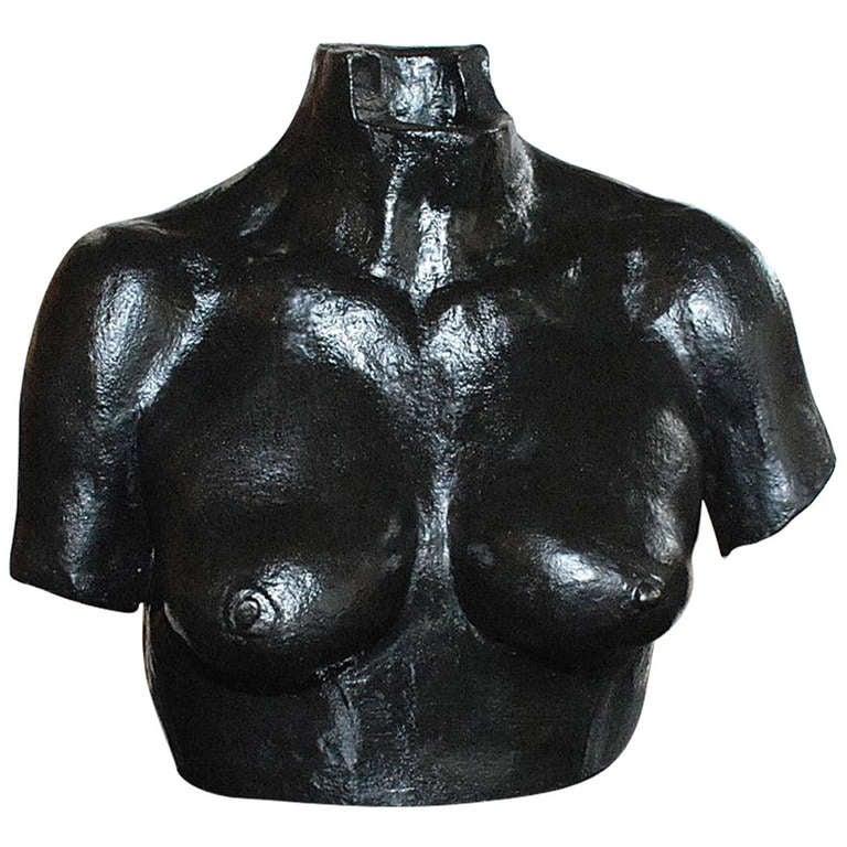 Bronze Sculpture of Woman Bust by Rosenwasser