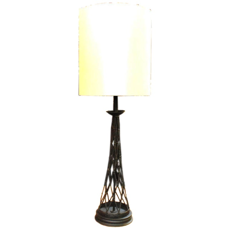 1960 39 S Tall Hand Forged Table Lamp For Sale At 1stdibs