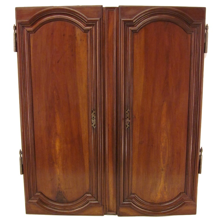 Pair of Louis XIV Style Walnut Doors