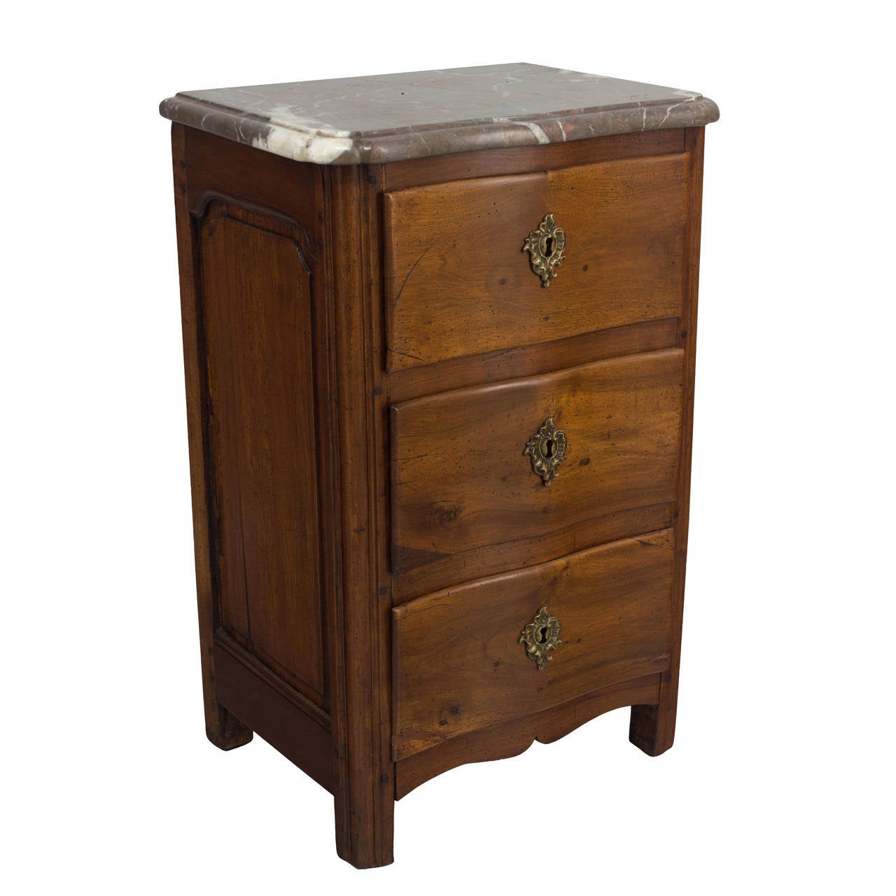 18th c french louis xv style petite commode or chest of drawers at 1stdibs. Black Bedroom Furniture Sets. Home Design Ideas