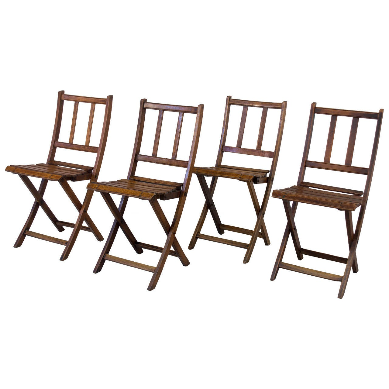 Set Of Early 20th Century Folding Chairs At 1stdibs