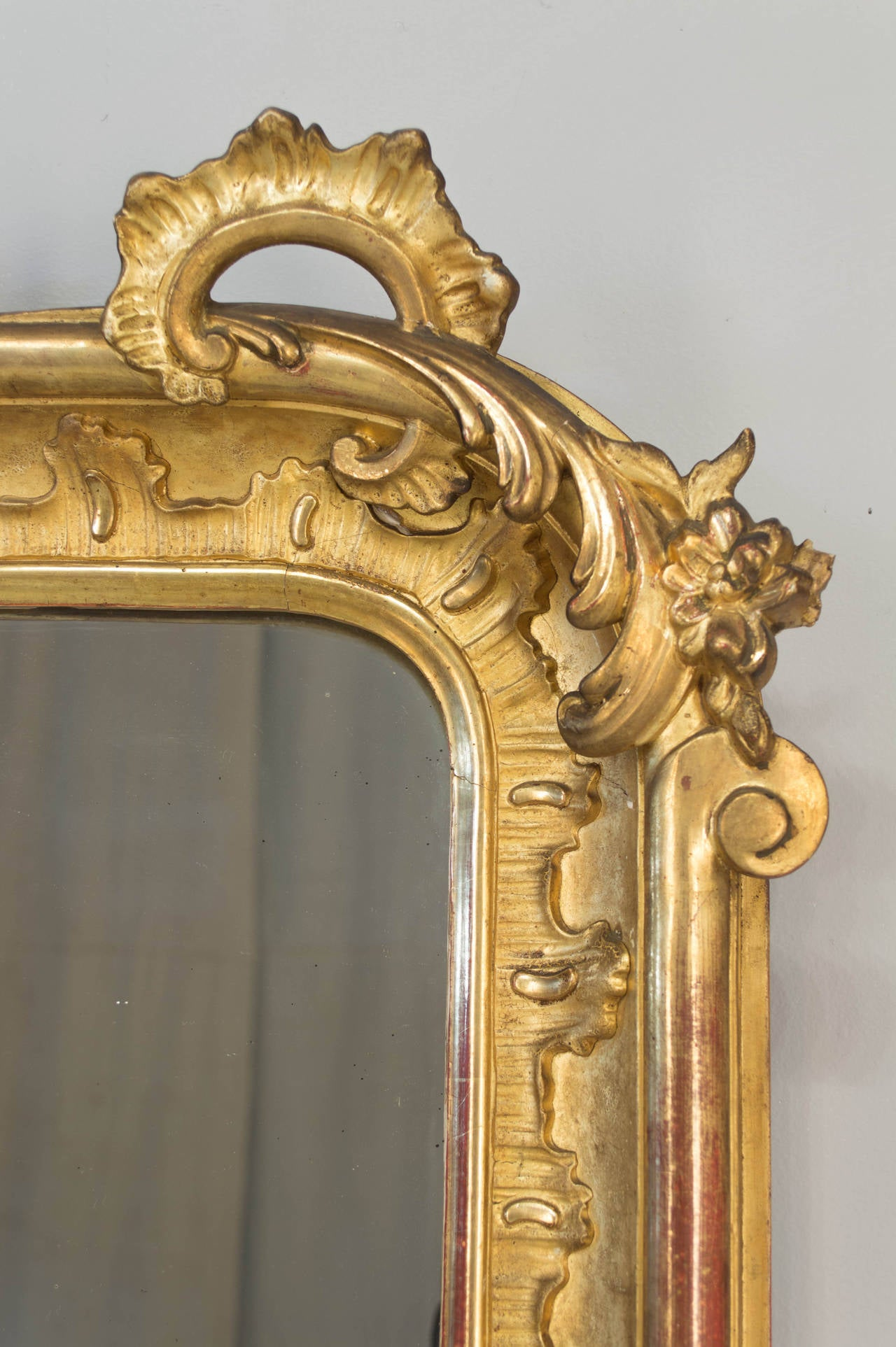 19th C French Louis Xv Style Gilded Mirror At 1stdibs