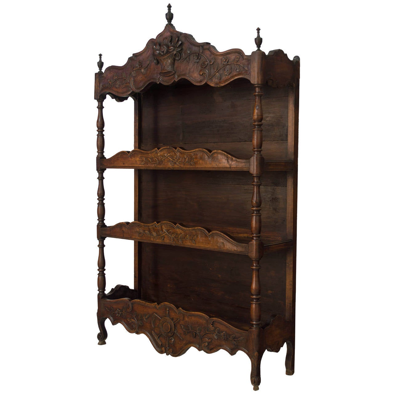 19th c french provencal shelf or estganier at 1stdibs for French country shelves