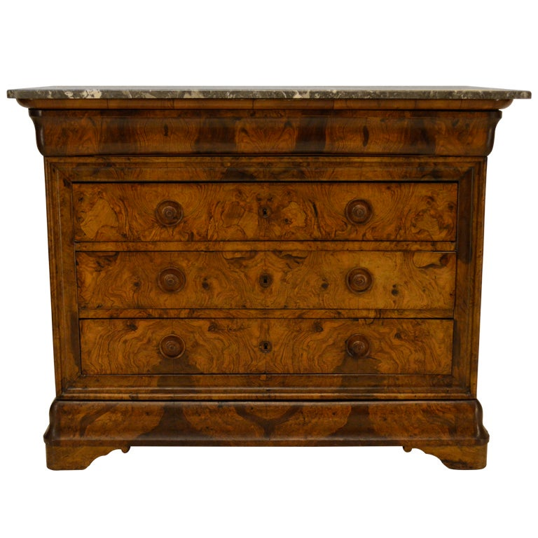 french 19th c louis philippe commode or chest of drawers. Black Bedroom Furniture Sets. Home Design Ideas