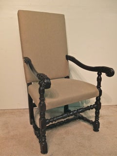 French Louis XIII Style Fauteuil or Arm Chair