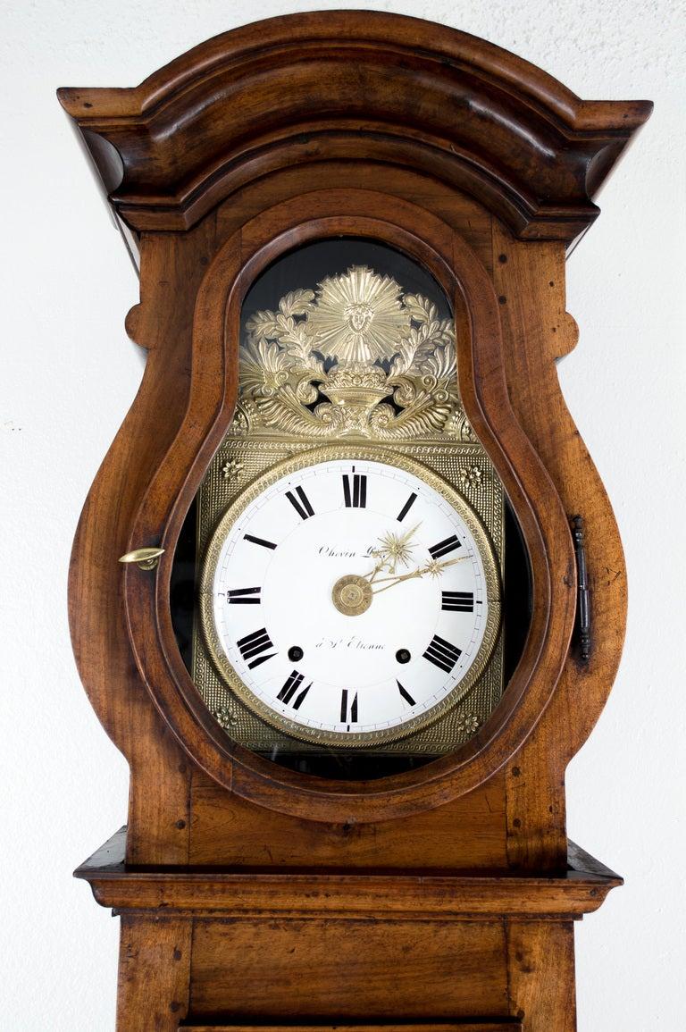 19th c french horloge de parquet demoiselle or tall case clock image 8. Black Bedroom Furniture Sets. Home Design Ideas