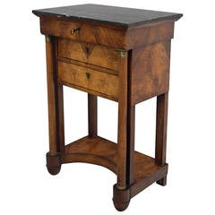 19th Century French Empire Period Walnut Table
