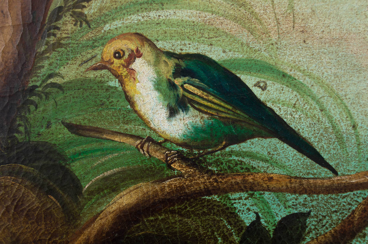 Tropical Bird Painting By Ira Monte At 1stdibs
