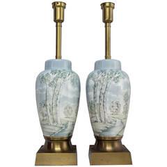 Pair of Italian Marbro Lamps