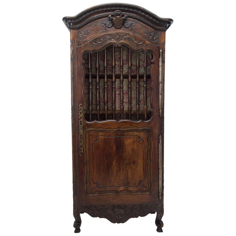 18th century louis xv carved bonnetiere or armoire at 1stdibs. Black Bedroom Furniture Sets. Home Design Ideas