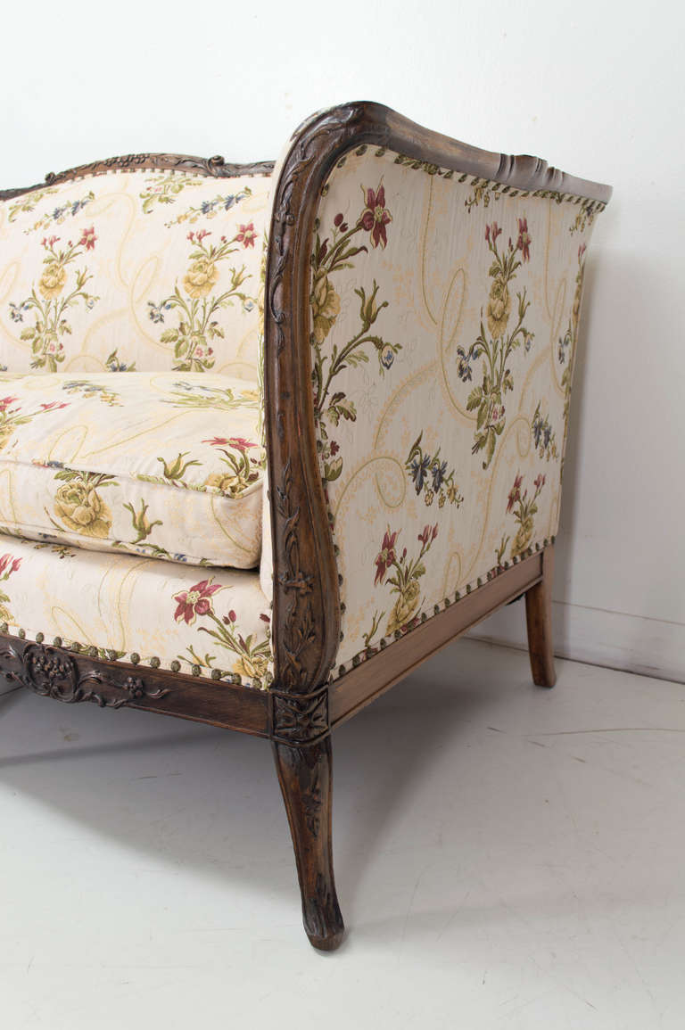 Late 19th century louis xv style canape or sofa at 1stdibs for Louis xv canape sofa