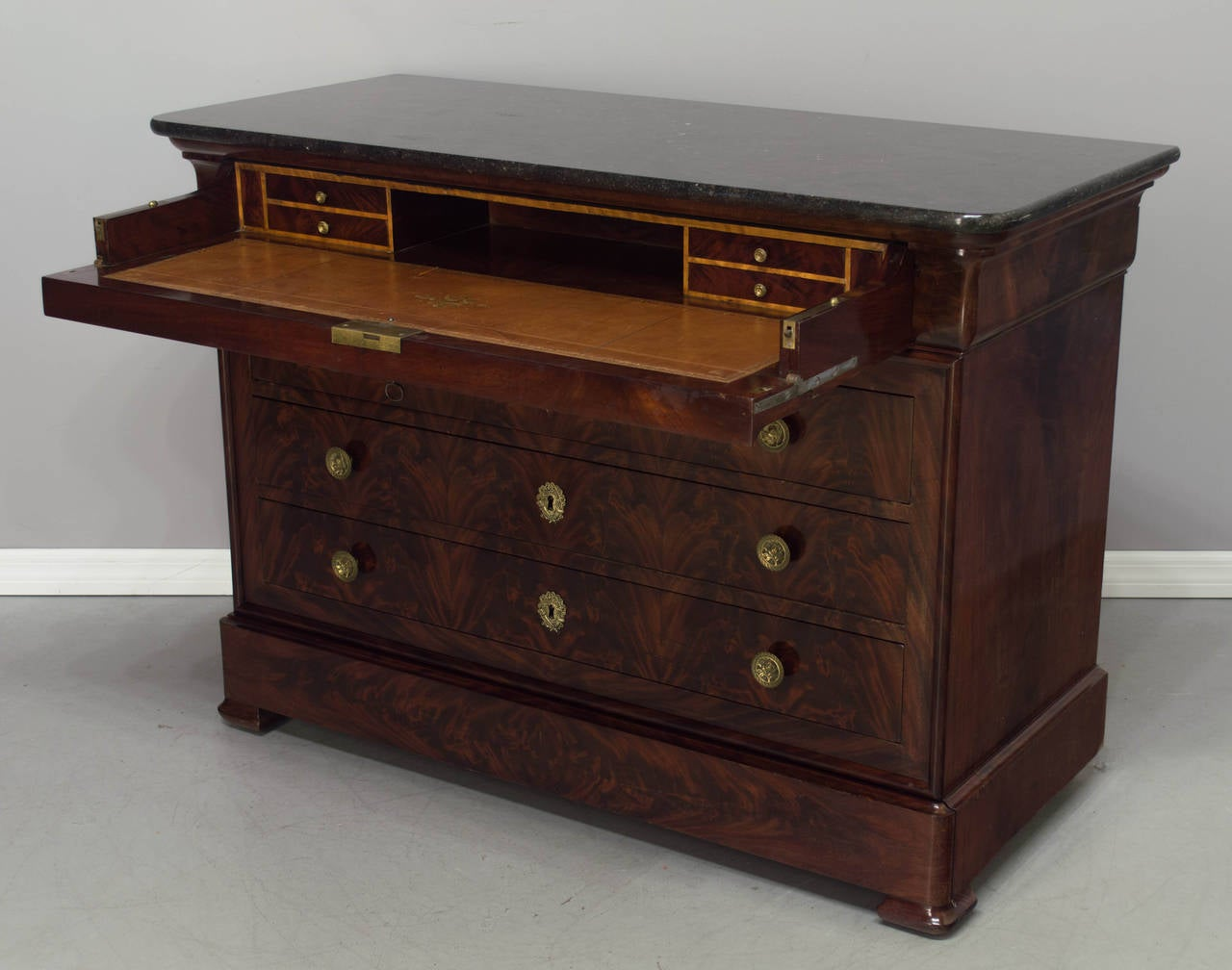 19th century louis philippe mahogany commode or secretaire at 1stdibs - Commode secretaire louis philippe ...
