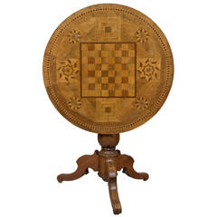 19th Century Tilt-Top Game Table