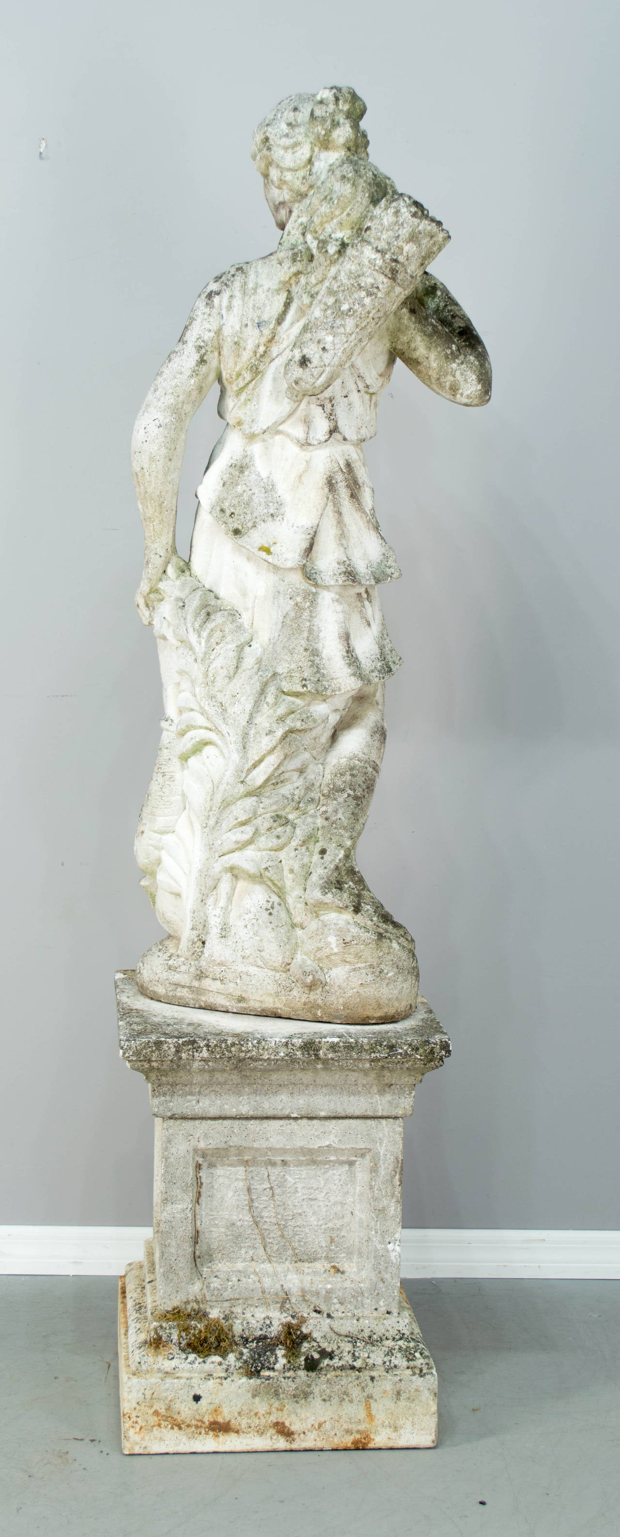 French Cast Stone Garden Statue Of Diana The Hunter At