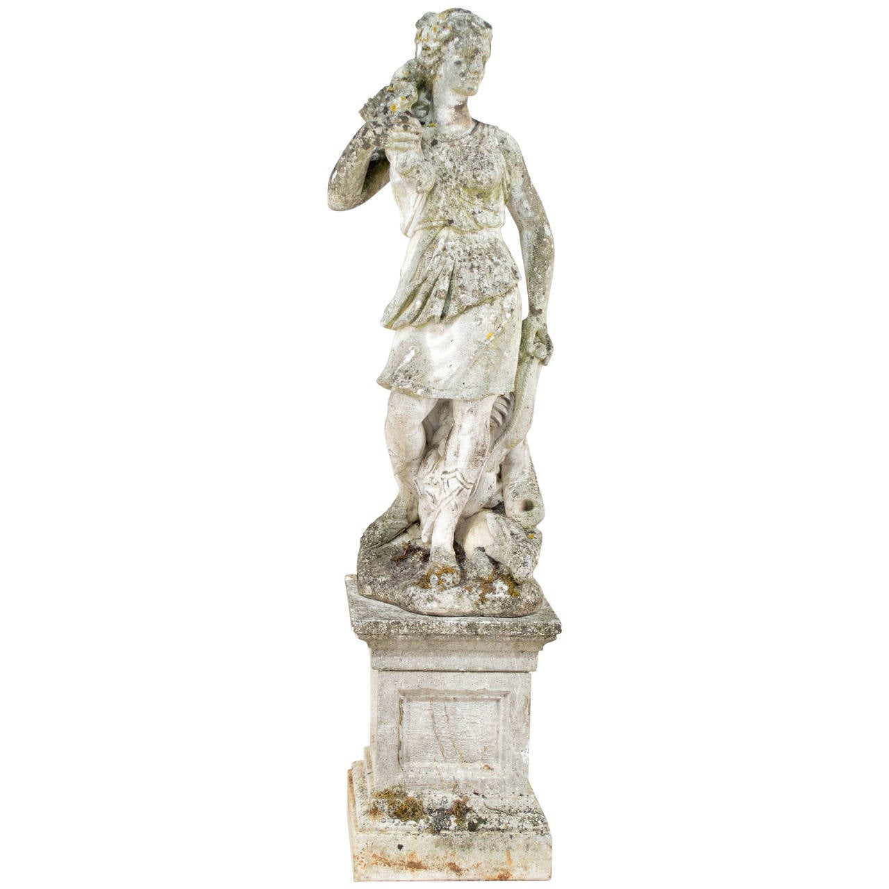 Cast Stone Garden Statues French cast stone garden statue of diana the hunter at 1stdibs french cast stone garden statue of diana the hunter for sale workwithnaturefo