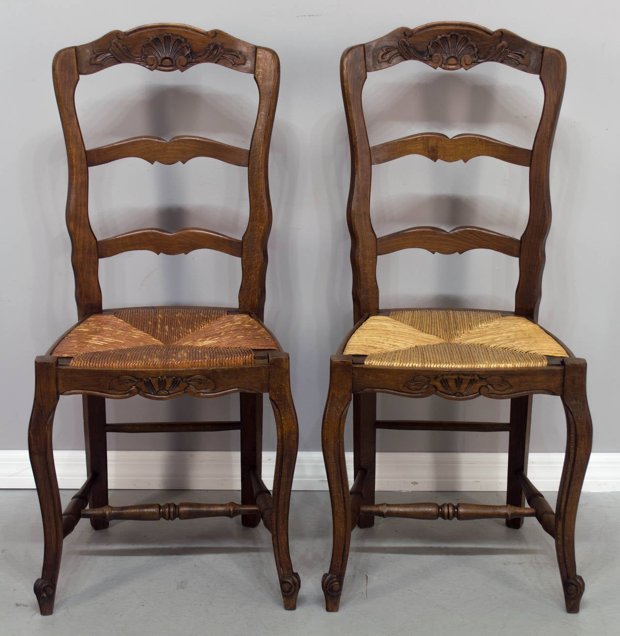 set of six french country rush seat chairs at 1stdibs