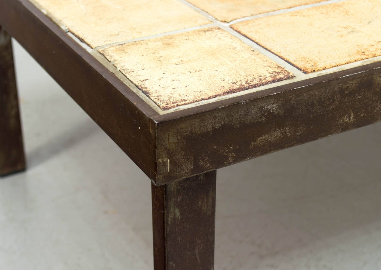 Roger Capron Coffee Table With Ceramic Tile At 1stdibs