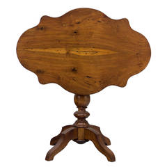 19th Century French Walnut Gueridon or Tilt-Top Table
