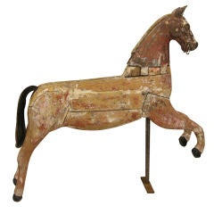 French Wooden and Cast Iron Horse