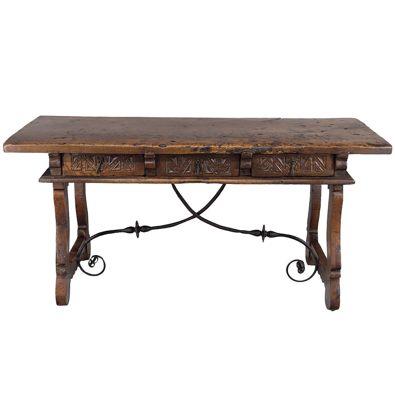 18th century spanish baroque table desk at 1stdibs for Table in spanish