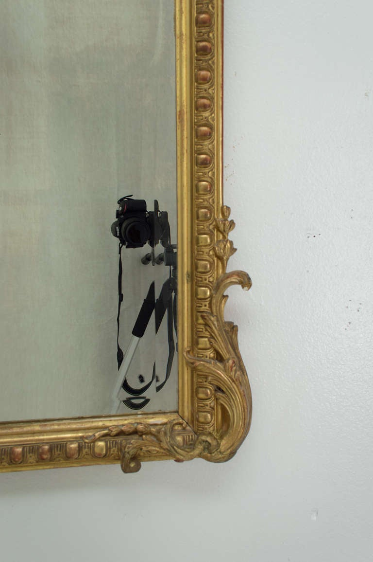 19th C. French  Louis XV Style Gilded MIrror 3