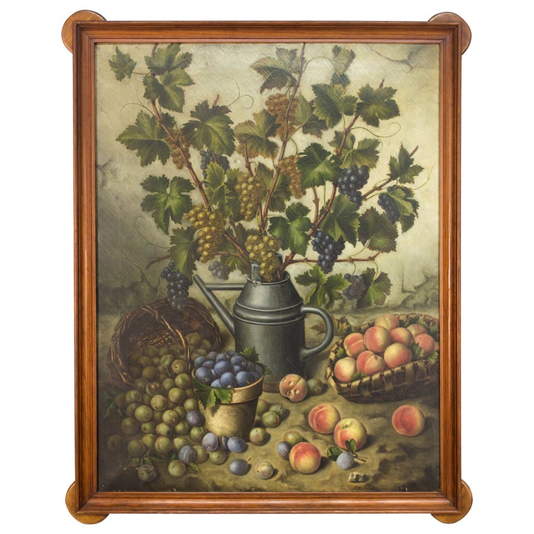 19th Century French Still Life Oil Painting For Sale