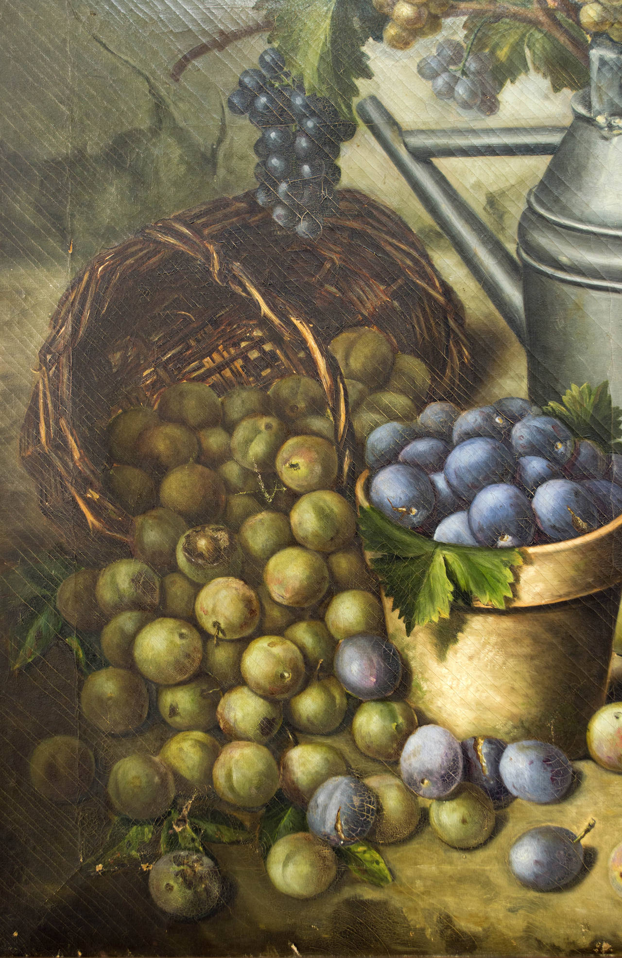 Canvas 19th Century French Still Life Oil Painting For Sale