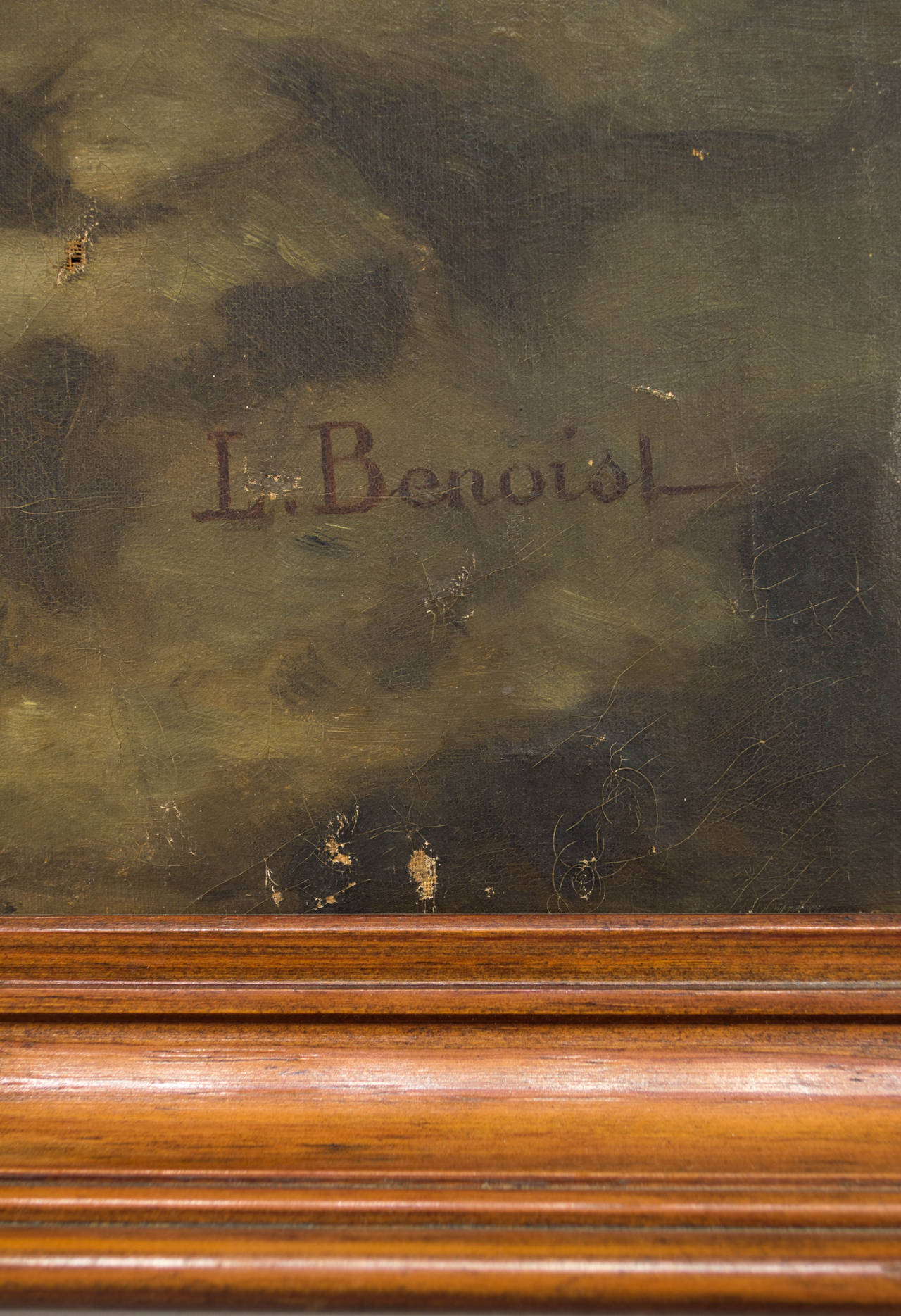 Hand-Painted 19th Century French Still Life Oil Painting For Sale
