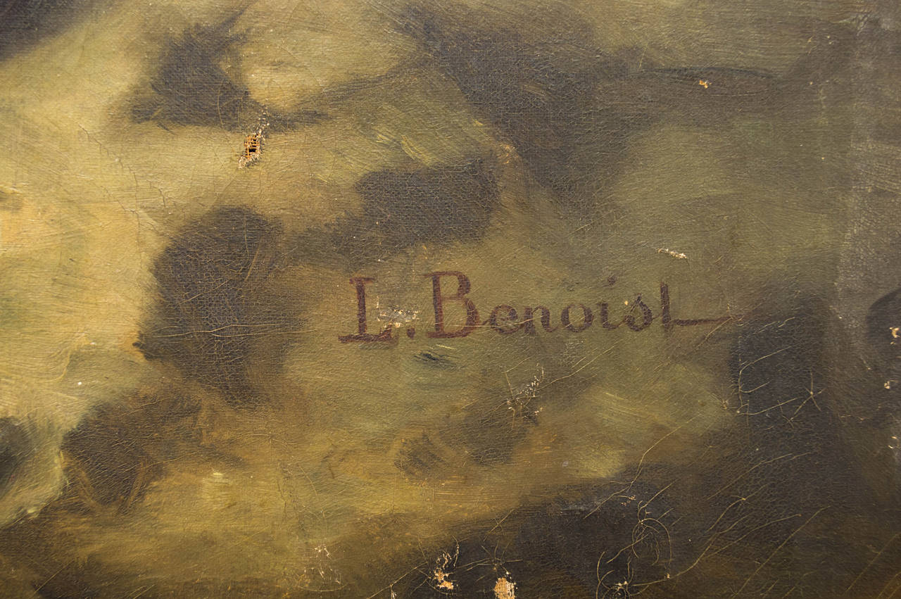 19th Century French Still Life Oil Painting For Sale 1