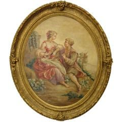 French Carton D' Aubusson with a gilded frame