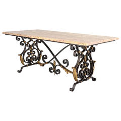 French Wrought Iron Center Table