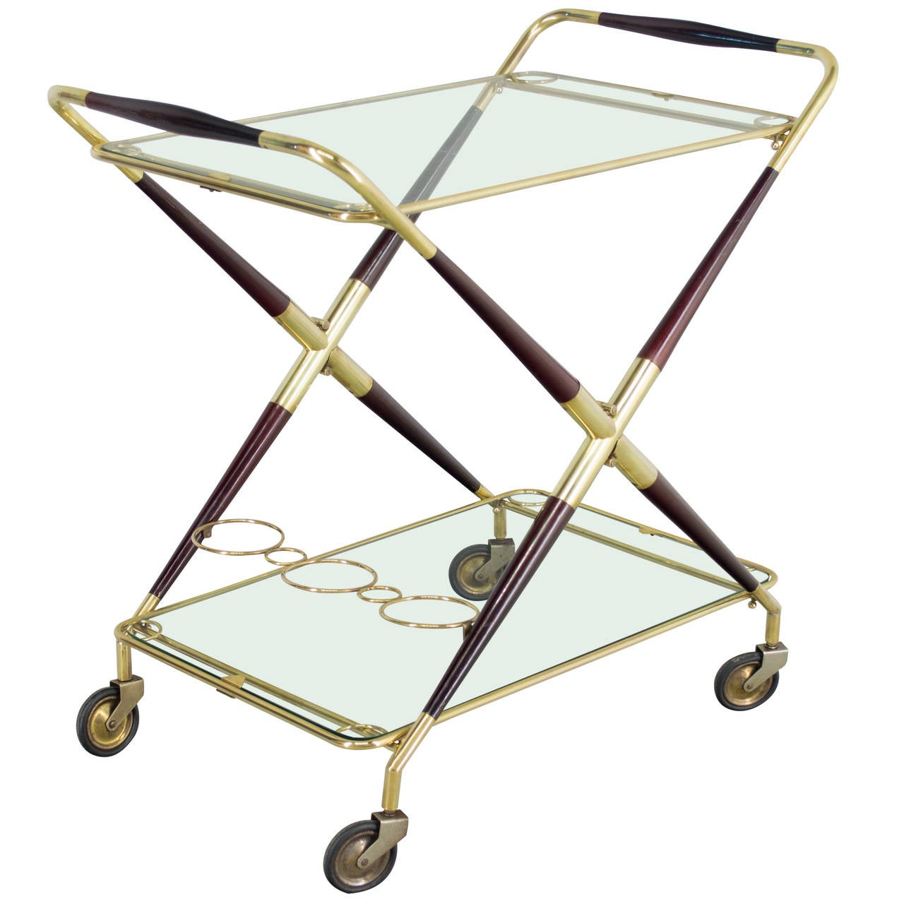 Italian Folding Bar Cart By Cesare Lacca 1
