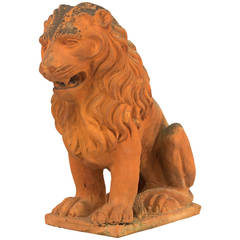 19th Century French Terracotta Lion