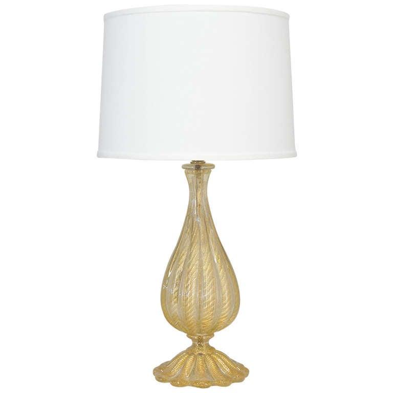 Barovier Murano Glass Lamp