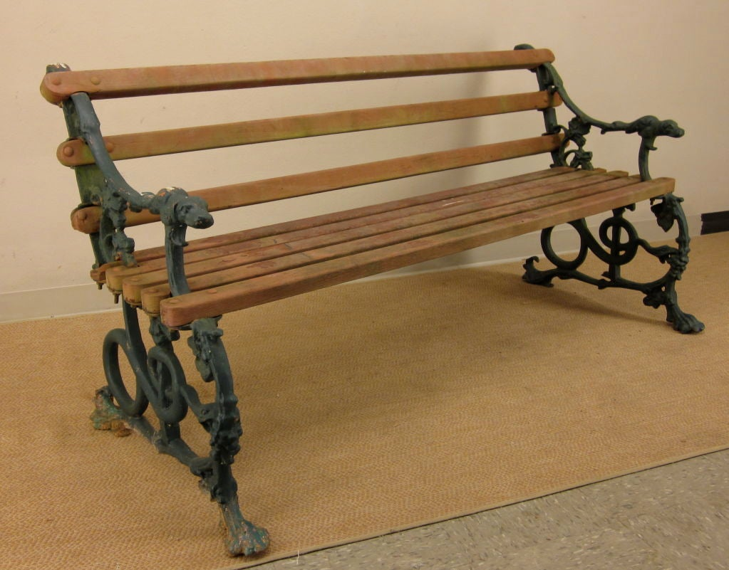 Pair Of English Cast Iron Garden Benches At 1stdibs