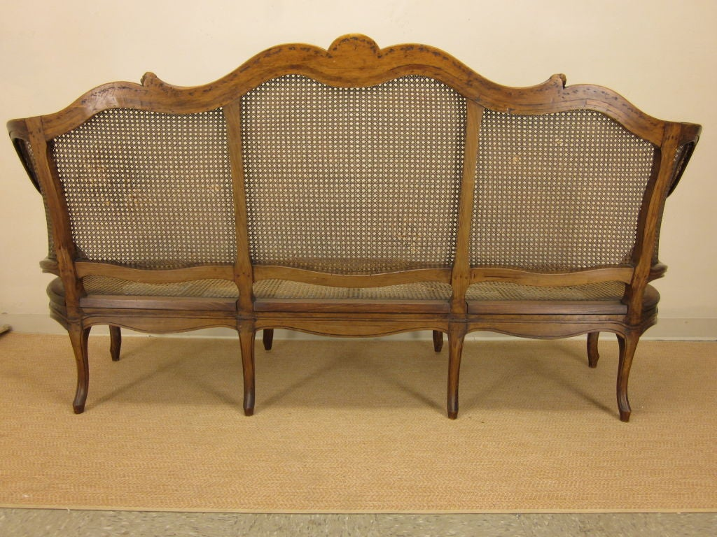 French louis xv style canned sofa or canape at 1stdibs for Louis xv canape sofa