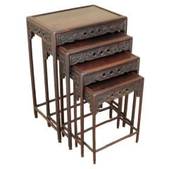 Set of four Chinese Nesting Table