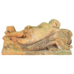 19th Century French Terra Cotta Garden Statue