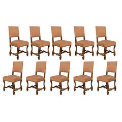 "19th Century French Set of Ten Dining Chairs, ""Os De Mouton"""