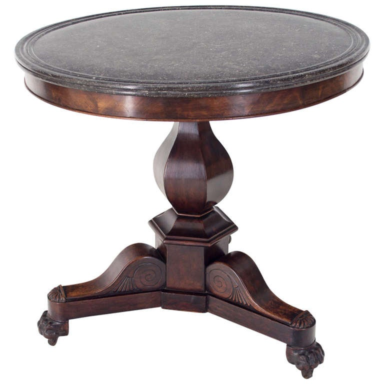 19th c louis philippe gueridon or center table at 1stdibs for Table ronde louis philippe